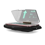 de coche universal ziqiao gps cargador inalámbrico HUD Head Up Display estándar Qi titular fotc montaje para el iphone 5 6 7 más de