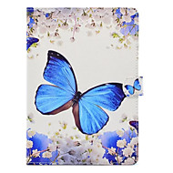 For case cover med stativ mønster butterfly hard pu lær for ipad (2017) pro10.5 pro9.7 ipad air air2 ipad234