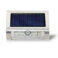 PIR czujnik ruchu zasilany energią słoneczną 9 diody świetlne oświetlenie zewnętrzne ściany zabezpieczające lampki nocne