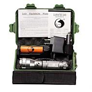 조명 LED손전등 손전등 키트 LED 1500 루멘 3 모드 Cree XP-E R2 18650 캠핑/등산/동굴탐험 일상용 야외 알루미늄 합금