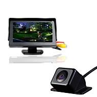 4.3 autó TFT LCD monitor 170 autó tolatókamera