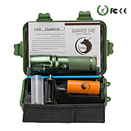 UKing ZQ-X800DG-US 2000LM Cree XM-L T6 LED 5Modes Zoomable Flashlight Torch Kits with Battery and Charger