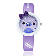 KEZZI Women's Kids' Fashion Watch Quartz / Silicone Band Casual Black White Blue Pink Purple White Black Purple Blue Blushing Pink Strap Watch