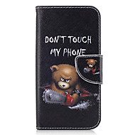 For Samsung Galaxy A3(2016) A5(2017) Case Cover Bear Pattern PU Material Painted Mobile Phone Case A3(2017) A5(2016)