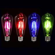 1 stk st64 e27 3w led filamentpærer farverige nyhed edison dæmpbar dekorative fyrværkeri lampe 220v