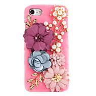 Mert Strassz DIY Case Hátlap Case Virág Kemény Textil mert Apple iPhone 7 Plus iPhone 7 iPhone 6s Plus/6 Plus iPhone 6s/6