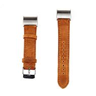 til Fitbit afgift 2 band udskiftning luksus ægte læder ur band mode armbånd rem