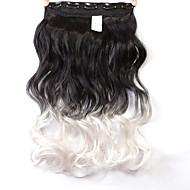 """neitsi® 1kpl 110g 22 """"3/4 koko pään 5clips Kanekalon synteettinen letitys hiuslisäkkeet ClipArt sisään / päälle aaltoileva laajennukset"""