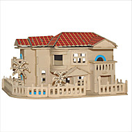 Jigsaw Puzzles DIY KIT 3D Coastal Villa Building Blocks DIY Toys Square Famous buildings Chinese Architecture House