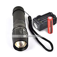 LED zseblámpák Kézi elemlámpák LED 2200 Lumen 5 Mód Cree XM-L T6 18650 AAA 26650 Csúszásgátló markolatKempingezés/Túrázás/Barlangászat