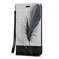 Voor Hoesje cover Kaarthouder met standaard Flip Patroon Magnetisch Volledige behuizing hoesje Veren Hard PU-leer voor SamsungJ7 (2016)
