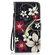 För Plånbok Korthållare med stativ Lucka Mönster fodral Heltäckande fodral Blomma Hårt PU-läder för Samsung S8 S8 Plus S7 edge S7 S6 S5