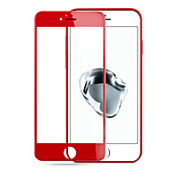 para a Apple iphone7 aço tela de vidro temperado vermelho 3d membrana à prova de explosão contra impressões digitais