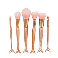 6 Contour Brush Makeup Brush Set Blush Brush Eyelash Comb (Round) Concealer Brush Fan Brush Powder Brush Foundation Brush Synthetic Hair