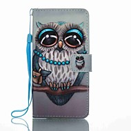 のために ウォレット カードホルダー スタンド付き フリップ パターン ケース フルボディー ケース ふくろう ハード PUレザー のために Huawei Huawei P8 Lite (2017) Huawei Mate 9