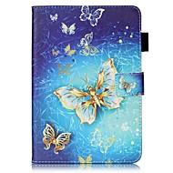 Pour Etuis coque Portefeuille Porte Carte Avec Support Clapet Motif Coque Intégrale Coque Papillon Dur Cuir PU pour AppleiPad Mini 4 iPad