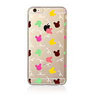 Voor Transparant Patroon hoesje Achterkantje hoesje Tegels Zacht TPU voor AppleiPhone 7 Plus iPhone 7 iPhone 6s Plus iPhone 6 Plus iPhone