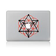 1 stk Ridsnings-Sikker Geometrisk Transparent plastik Klistermærke Mønster ForMacBook Pro 15'' with Retina MacBook Pro 15 '' MacBook Pro