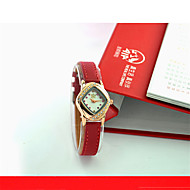 Women's Fashion Watch Quartz Genuine Leather Band Casual Red