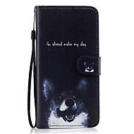 For Pung Kortholder Med stativ Flip Mønster Etui Heldækkende Etui Hund Hårdt Kunstlæder for Samsung S8 S8 Plus S7 edge S7 S6 S5