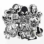 ziqiao 100 kom crno-bijele super DIY naljepnice za automobil skateboard laptop za prtljagu snowboarda hladnjak telefon igračaka stil home