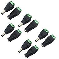 5 pack 5,5 x 2,1 mm tønde magt 12v mandlige og kvindelige dc strømstikket adapterstik stik til CCTV sikkerhed kamera LED strip