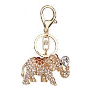 Kulcstartó Elefánt Kulcstartó Ezüst Ivory Barna Fém