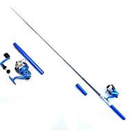 Mušky Pruty Iso Rod Wędka Iso Rod FRP 100 M Sea Fishing Fly Fishing Ice Fishing Trolling i wędkarstwo z łodzi Wędki + KołowrotkiCzarny