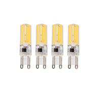 3W E14 G9 LEDコーン型電球 T 4 COB 290 lm 温白色 クールホワイト 明るさ調整 交流220から240 V 4個