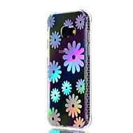 Voor Samsung Galaxy A3 (2017) a5 (2017) hoesje hoesje schokbestendig plating doorschijnend patroon achterkant bloem zacht tpu
