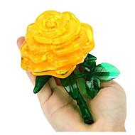 Puzzle Zabawki 3D Cegiełki DIY Zabawki Róże Tworzywo sztuczne Model / klocki