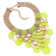 Women's Strands Necklaces Crystal Chrome Unique Design Euramerican Fashion Personalized Light Green Red Jewelry ForWedding Party