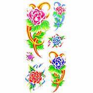 Tatoeagestickers Bloemen Series Patroon Onderrrug WaterproofDames Heren Tiener Tijdelijke tatoeage Tijdelijke tatoeages