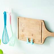 2pcs geweldige plastic keukenpot pan deksel shell deksel zuiger gereedschap beugel opslagrek hoge kwaliteit