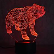 Julbjörn sköldpaddor berör dimmning 3d led nattlampa 7färgad dekoration atmosfär lampa nyhet belysning julljus