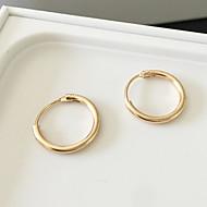 Cercei Rotunzi  La modă Aliaj Circle Shape Argintiu Auriu Bijuterii Pentru Zilnic Casual 1 pereche
