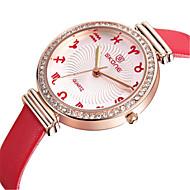 SKONE Dame ' Modni sat Kvarc Svijetli u mraku Koža Grupa Smeđa Pink