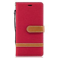 For Sony Xperia xa1 xz Veske deksel denim mønster søm farge kort stent pu materiale telefon veske