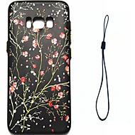 Samsung Galaxy s8 plusz s8 burkolata szilva virág mintás üzemanyag-befecskendező enyhítésére borítás gomb vastagabb TPU anyag telefon