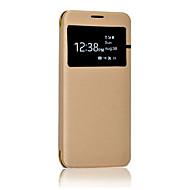 Til Samsung Galaxy S8 Plus S8 Solid farve sommer cool pu læder og pc med vindues gennemskinnelig telefon sag til s7 kant s7 s6 kant s6 s5