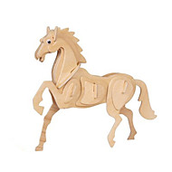 Jigsaw Puzzles 3D Puzzles Building Blocks DIY Toys Horse Wood Model & Building Toy