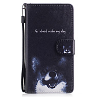 Til samsung galaxy j3 j5 coveret hund mønster malet kort stent pu materiale telefon taske j5 (2016) j3 j5