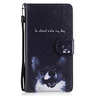 Samsung galaxy j3 j5 kotelon suojus koiran kuvio maalattu kortti stent pu materiaali puhelin tapauksessa j5 (2016) j3 j5