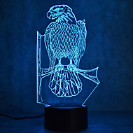 Weihnachten Eagle Touch Dimmen 3d führte Nachtlicht 7colorful Dekoration Atmosphäre Lampe Neuheit Beleuchtung Weihnachtslicht