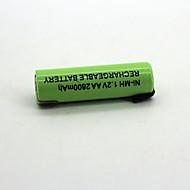 Ni-mh 1.2V aa 2800mah uppladdningsbart batteri