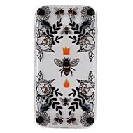 Na Etui Pokrowce Przezroczyste Wytłaczany wzór Wzór Etui na tył Kılıf Zwierzę Kwiaty Miękkie Poliuretan termoplastyczny na SamsungJ7
