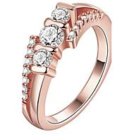 Δαχτυλίδι Δαχτυλίδι αρραβώνων Κρυστάλλινο Euramerican κοσμήματα πολυτελείας Μοντέρνα ΕξατομικευόμενοΚρύσταλλο Χαλκός Επιχρυσωμένο Με