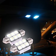 ziqiao白36ミリメートル5050 6 smd led c5w車のオートインテリアドームドア電球の光路の作業ランプ(12v / 2pcs)