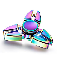 Rainbow New Tri Fidget Hand Spinner Triangle Torqbar Brass Finger Toy EDC Focus