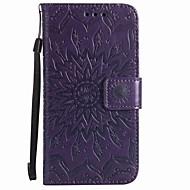 Til wiko lenny 3 wiko lenny 2 kortholder lommebok med stativ flip præget mønster etui fuld krops sag blomst hårdt pu læder